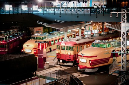 大宮の鉄道博物館の旧型電車の模型