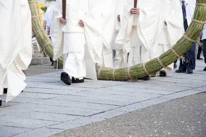 播磨国総社の輪抜け祭