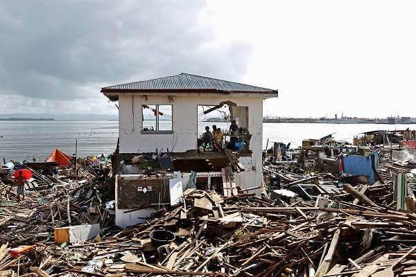 フィリピンのハイヤンで発生した台風の被害